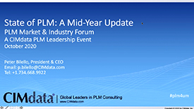 CIMdata:PLM现状—今天的市场与主流趋势(年中更新)